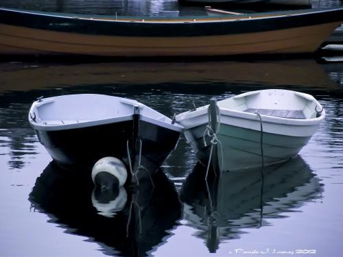 Three Wooden Boats ~ c. Pamela J. Leavey