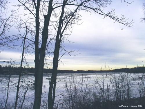 winter on the merrimack river