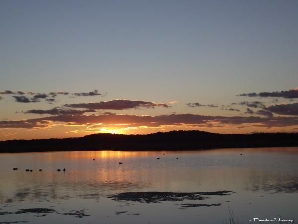 october sunset on the salt pannes