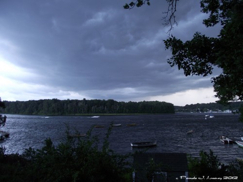 Storm Rolling In on the Merrimack River ~ c. Pamela J. Leavey
