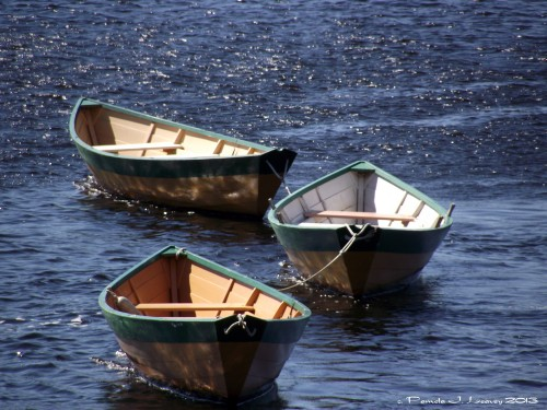 Three Dories ~ c. Pamela J. Leavey