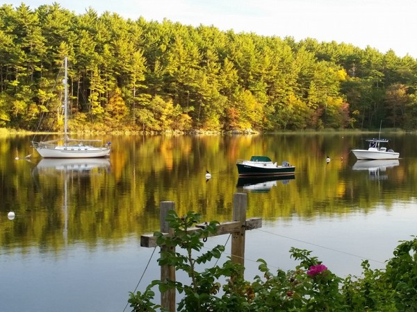 golden hour on the Merrimack river c. Pamela J. Leavey
