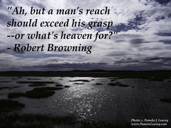 """Ah, but a man's reach should exceed his grasp--or what's heaven for?"" - Robert Browning"
