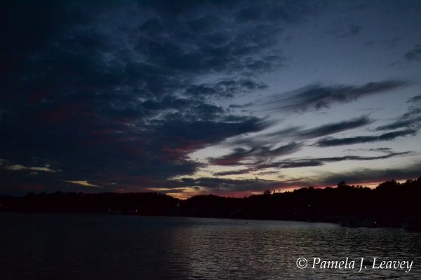 Sunset on the Merrimack River in Amesbury, MA