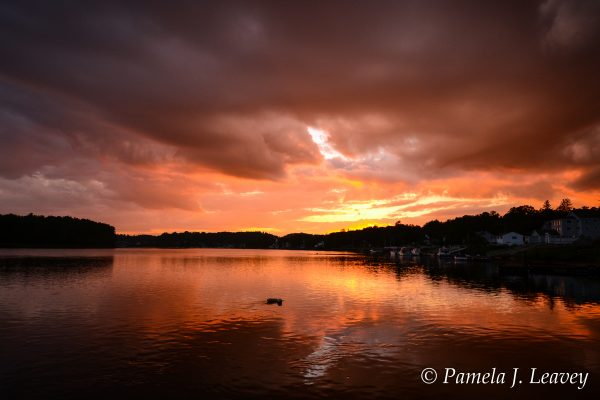 Sunset on the Merrimack River